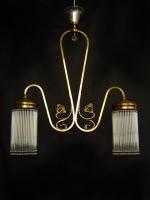 Φωτιστικό δίφωτο Art Deco με κρυσταλλάκια