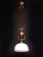 Φωτιστικό που ανεβοκατεβαίνει με οπαλίνα ανάγλυφη