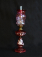 Red table oil lamp