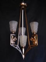 Φωτιστικό Art Deco,κρύσταλλα pate-de-verre υπογεγραμμένα Ντεγγέ