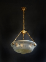 Crystal ceiling light with handmade engraved  designs