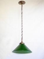 Φωτιστικό μονόφωτο με γαλλική οπαλίνα VIANNE πράσινη