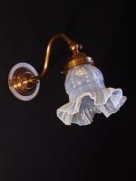 Αυθεντική μπρούντζινη απλίκα με γυαλί αυθεντικό οπάλιουμ