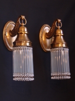 Bronze wall lights with small crystals